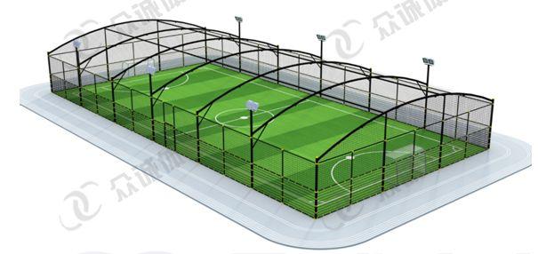 穹顶桁架笼式足球